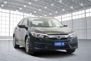 2017 Honda Civic 10th Gen MY16 VTi Black 1 Speed Constant Variable Sedan.