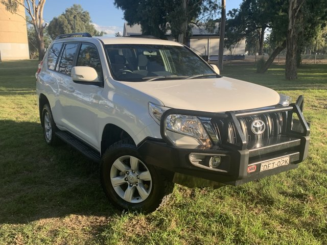 Used Toyota Landcruiser Prado GDJ150R GXL Moree, 2016 Toyota Landcruiser Prado GDJ150R GXL White 6 Speed Sports Automatic Wagon