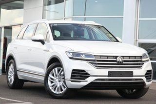 2020 Volkswagen Touareg CR MY21 170TDI Tiptronic 4MOTION Pure White 8 Speed Sports Automatic Wagon.