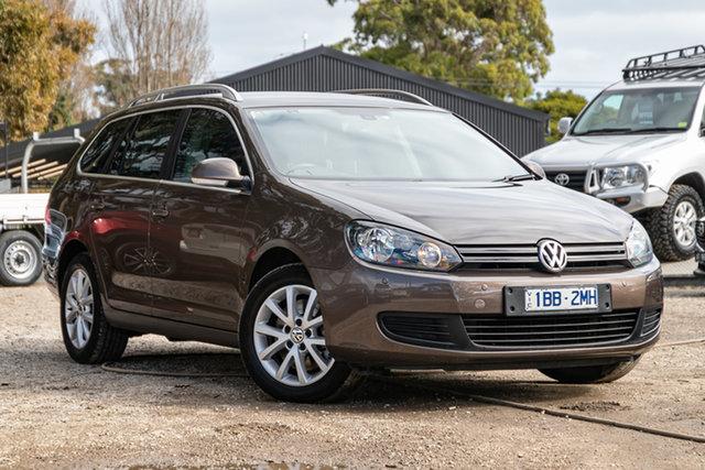 Used Volkswagen Golf VI MY12.5 118TSI DSG Comfortline Mornington, 2012 Volkswagen Golf VI MY12.5 118TSI DSG Comfortline Toffee Brown 7 Speed