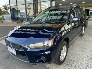 2011 Mitsubishi Outlander ZH MY11 LS Blue 6 Speed CVT Auto Sequential Wagon
