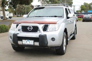 2010 Nissan Navara D40 ST-X (4x4) Silver 6 Speed Manual Dual Cab Pick-up