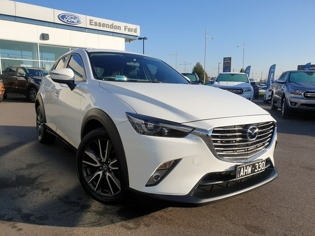Used Mazda CX-3 DK2W7A sTouring SKYACTIV-Drive Essendon Fields, 2016 Mazda CX-3 DK2W7A sTouring SKYACTIV-Drive White 6 Speed Sports Automatic Wagon