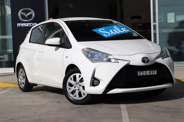 Used Toyota Yaris NCP131R SX Kirrawee, 2019 Toyota Yaris NCP131R SX White 4 Speed Automatic Hatchback