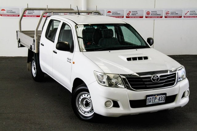 Pre-Owned Toyota Hilux KUN16R MY12 SR Myaree, 2011 Toyota Hilux KUN16R MY12 SR Glacier White 5 Speed Manual Dual Cab Pick-up