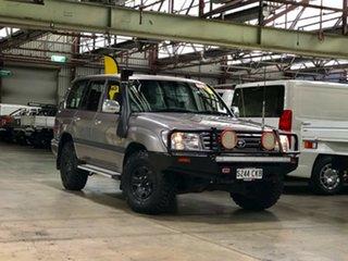 2004 Toyota Landcruiser UZJ100R GXL Silver 5 Speed Automatic Wagon.