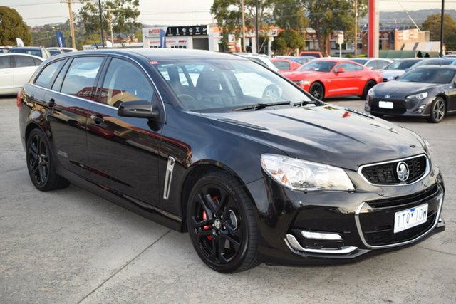 Used Holden Commodore VF II MY16 SS V Sportwagon Redline Ferntree Gully, 2016 Holden Commodore VF II MY16 SS V Sportwagon Redline Black 6 Speed Sports Automatic Wagon