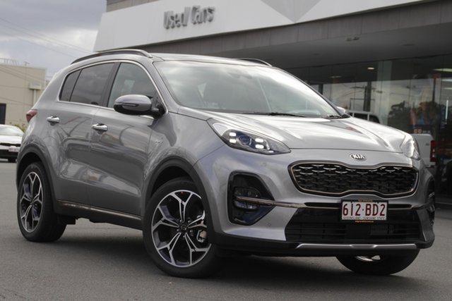 Demo Kia Sportage QL MY21 GT-Line AWD Mount Gravatt, 2020 Kia Sportage QL MY21 GT-Line AWD Steel Grey 8 Speed Sports Automatic Wagon