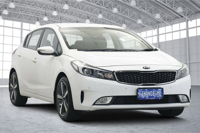 Used Kia Cerato YD MY18 Sport Victoria Park, 2017 Kia Cerato YD MY18 Sport White 6 Speed Sports Automatic Hatchback