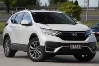 2021 Honda CR-V RW MY21 VTi 4WD LX AWD Platinum White 1 Speed Constant Variable Wagon.
