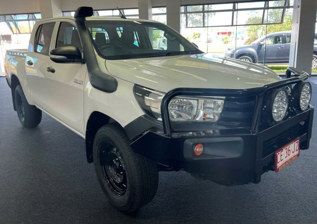 Used Toyota Hilux GUN125R Workmate Double Cab Winnellie, 2017 Toyota Hilux GUN125R Workmate Double Cab White 6 Speed Manual Utility
