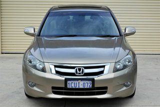 2008 Honda Accord 8th Gen V6 Luxury Brown 5 Speed Sports Automatic Sedan.