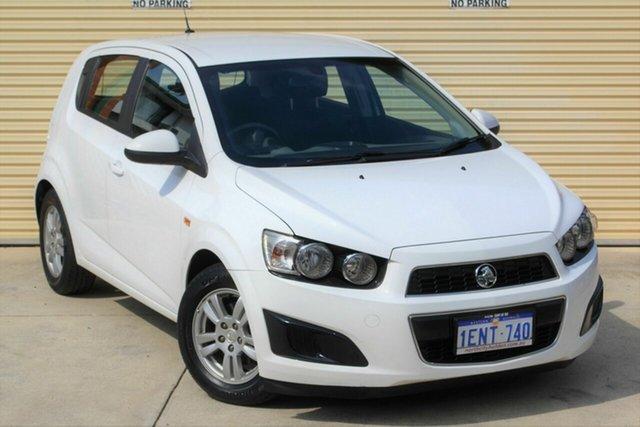 Used Holden Barina TM MY14 CD Mount Lawley, 2014 Holden Barina TM MY14 CD White 5 Speed Manual Hatchback