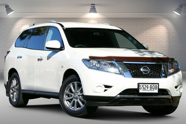 Used Nissan Pathfinder R52 MY15 ST X-tronic 2WD Nailsworth, 2015 Nissan Pathfinder R52 MY15 ST X-tronic 2WD White 1 Speed Constant Variable Wagon