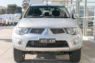 2013 Mitsubishi Triton MN MY13 GLX-R Double Cab Silver 5 Speed Manual Utility.