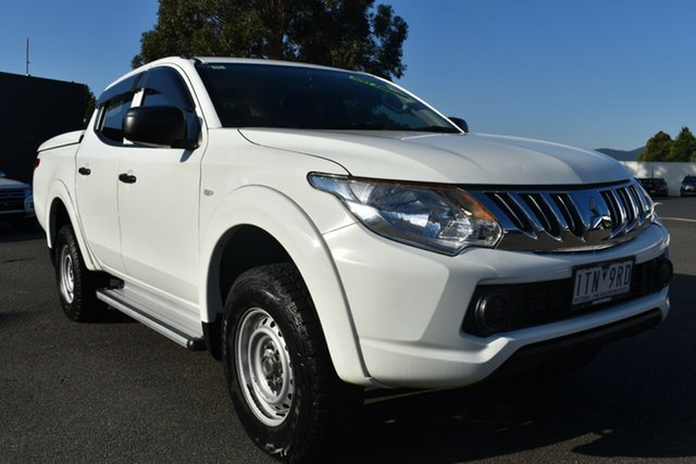 Used Mitsubishi Triton MQ MY16 GLX Double Cab Wantirna South, 2015 Mitsubishi Triton MQ MY16 GLX Double Cab White 5 Speed Sports Automatic Utility
