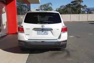 2013 Toyota Kluger GSU40R MY12 Altitude 2WD White 5 Speed Sports Automatic Wagon.