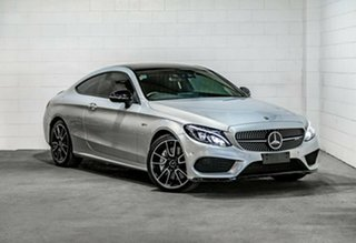 2018 Mercedes-Benz C-Class C205 808MY C43 AMG 9G-Tronic 4MATIC Silver 9 Speed Sports Automatic Coupe.