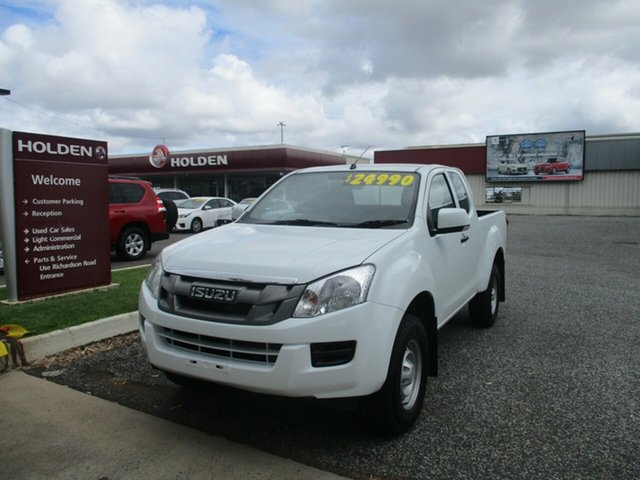 Used Isuzu D-MAX MY15 SX 4x2 High Ride North Rockhampton, 2016 Isuzu D-MAX MY15 SX 4x2 High Ride White 5 Speed Sports Automatic Cab Chassis