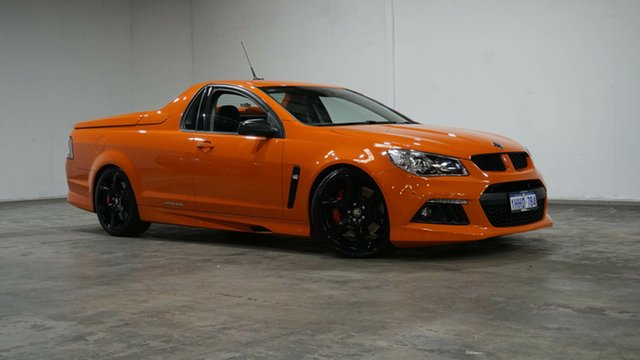 Used Holden Special Vehicles Maloo Gen-F MY14 R8 Welshpool, 2014 Holden Special Vehicles Maloo Gen-F MY14 R8 Orange 6 Speed Sports Automatic Utility