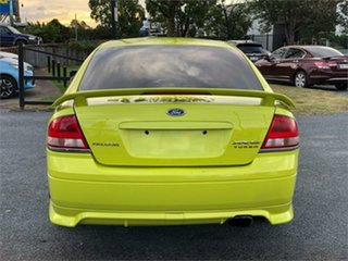 2003 Ford Falcon BA XR6 Turbo Green/ Yellow 4 Speed Sports Automatic Sedan