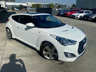 2014 Hyundai Veloster FS3 SR Coupe Turbo White Semi Auto Coupe.