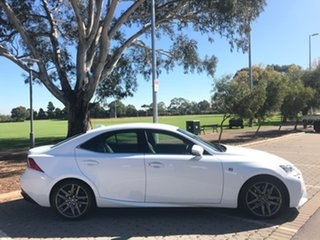2016 Lexus IS GSE31R IS350 F Sport White 8 Speed Sports Automatic Sedan.