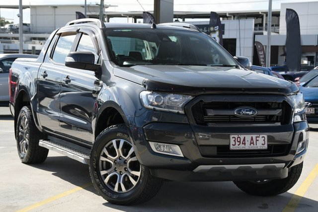 Used Ford Ranger PX MkII Wildtrak Double Cab Aspley, 2015 Ford Ranger PX MkII Wildtrak Double Cab Grey 6 Speed Sports Automatic Utility