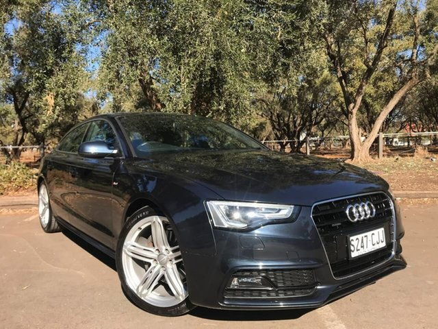Used Audi A5 8T MY13 Sportback S Tronic Quattro Adelaide, 2012 Audi A5 8T MY13 Sportback S Tronic Quattro Grey 7 Speed Sports Automatic Dual Clutch Hatchback