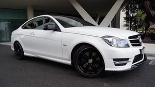 2015 Mercedes-Benz C-Class C204 C250 7G-Tronic + Avantgarde White 7 Speed Sports Automatic Coupe.