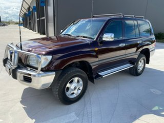 2004 Toyota Landcruiser UZJ100R GXL Red 5 Speed Automatic Wagon.