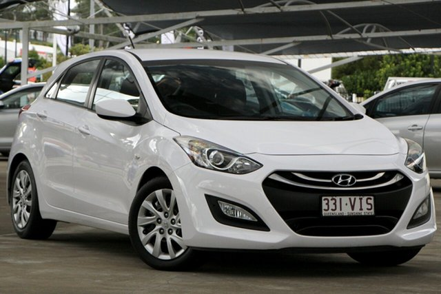 Used Hyundai i30 GD2 Active Bundamba, 2014 Hyundai i30 GD2 Active White 6 Speed Sports Automatic Hatchback