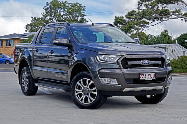 Used Ford Ranger PX MkII 2018.00MY Wildtrak Double Cab Capalaba, 2018 Ford Ranger PX MkII 2018.00MY Wildtrak Double Cab Magneitc/s 6 Speed Sports Automatic Utility