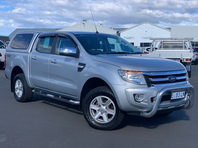 Used Ford Ranger PX XLT Double Cab Moonah, 2015 Ford Ranger PX XLT Double Cab Silver 6 Speed Manual Utility