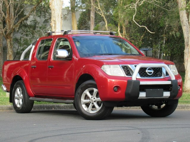 Used Nissan Navara D40 ST-X, 2010 Nissan Navara D40 ST-X Red 6 Speed Manual Utility