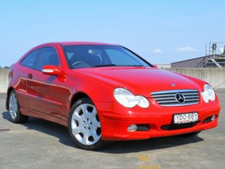 2004 Mercedes-Benz C-Class CL203 MY2003 C180 Kompressor Sports Red 5 Speed Automatic Coupe.