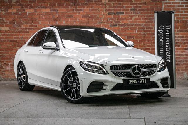 Demonstrator Mercedes-Benz C-Class W205 801MY C300 9G-Tronic Mulgrave, 2021 Mercedes-Benz C-Class W205 801MY C300 9G-Tronic Polar White 9 Speed Sports Automatic Sedan