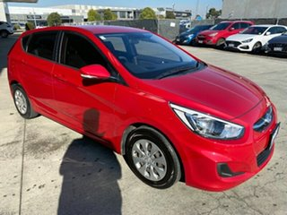 2015 Hyundai Accent RB3 MY16 Active Veloster Red 6 Speed Constant Variable Hatchback.
