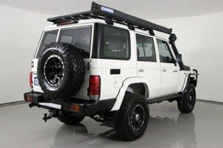 2015 Toyota Landcruiser VDJ76R MY12 Update Workmate (4x4) White 5 Speed Manual Wagon