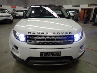 2014 Land Rover Evoque LV MY14 SD4 Pure Atlas White & Black Roof 9 Speed Automatic Wagon.