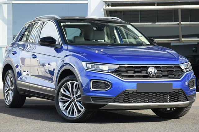 New Volkswagen T-ROC A1 MY21 110TSI Style Botany, 2021 Volkswagen T-ROC A1 MY21 110TSI Style Ravenna Blue 8 Speed Sports Automatic Wagon
