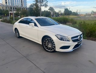 2016 Mercedes-Benz CLS-Class C218 807MY CLS500 Coupe 9G-Tronic PLUS White 9 Speed Sports Automatic.