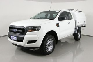 2016 Ford Ranger PX MkII MY17 XL 2.2 Hi-Rider (4x2) White 6 Speed Automatic Super Cab Chassis.