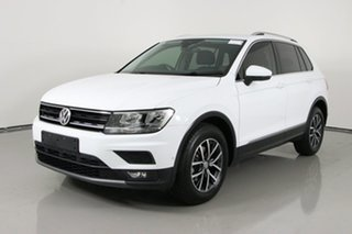 2018 Volkswagen Tiguan 5NA MY18 110 TDI Comfortline White 7 Speed Auto Direct Shift Wagon.