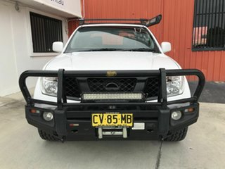 2015 Nissan Navara D40 S9 Silverline SE White 5 Speed Automatic Utility.