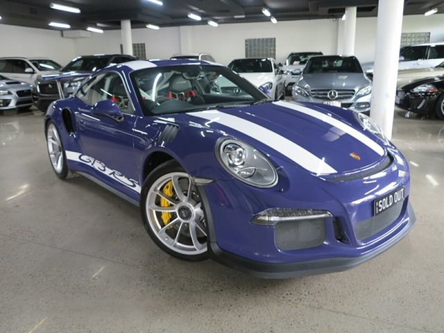 Used Porsche 911 991 MY16 GT3 PDK RS Albion, 2016 Porsche 911 991 MY16 GT3 PDK RS Ultraviolet Blue 7 Speed Sports Automatic Dual Clutch Coupe