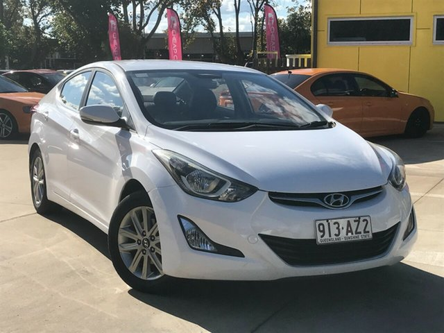 Used Hyundai Elantra MD3 Active Toowoomba, 2015 Hyundai Elantra MD3 Active White 6 Speed Sports Automatic Sedan