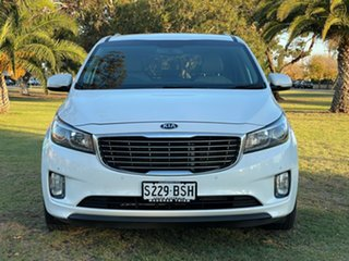 2017 Kia Carnival YP MY18 SLi Snow White Pearl 6 Speed Sports Automatic Wagon.