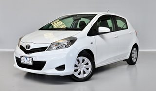2012 Toyota Yaris NCP131R YRS White 4 Speed Automatic Hatchback.