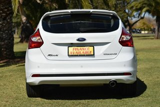 2013 Ford Focus LW MkII Titanium PwrShift White 6 Speed Sports Automatic Dual Clutch Hatchback